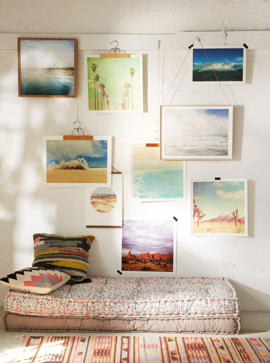 A great collection of pictures on the wall. Very nice <3