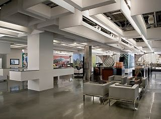 Autodesk Offices Have Large Open Spaces Featuring An Industrial Design,  Supported By A Cool, Shiny Concrete Floor!