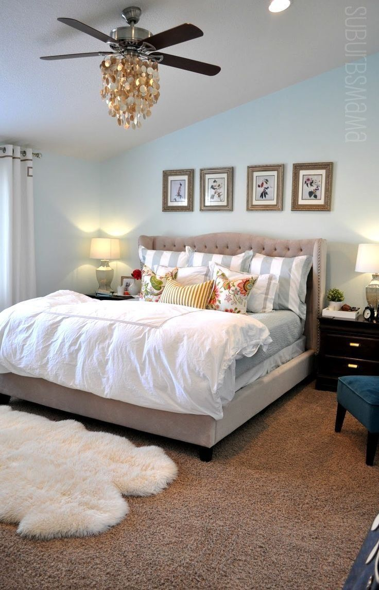 159 Cozy Master Bedroom Ideas for Winter- like the rug