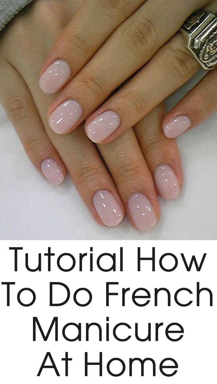 Home Nail Designs Shellac Nails Uk: How To Do The French Manicure At Home