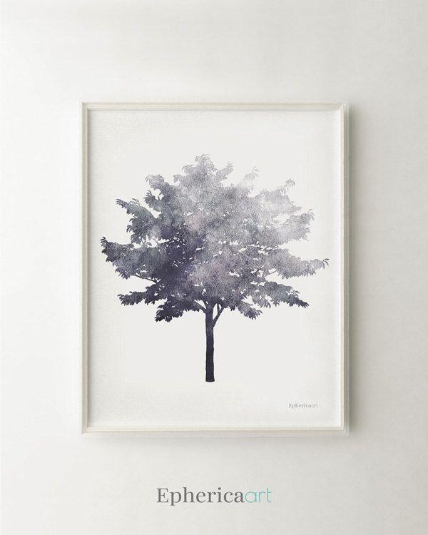 Tree art, Black and white art print, Gray print Modern decor, Nature decor, Gray art print, Tree decor, Home decor PRINTABLE wall art print by EphericaArt on Etsy https://www.etsy.com/listing/239863427/tree-art-black-and-white-art-print-gray