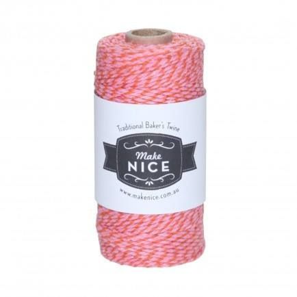 1 Spool (aprox 100metres) Red and Pink 100% cotton Bakers Twine - included in All The Pinks Party Pack $105.00 www.strawberry-fizz.com.au