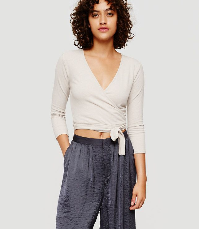 Thumbnail Image of Color Swatch undefined Image of Lou & Grey Ballet Wrap Top