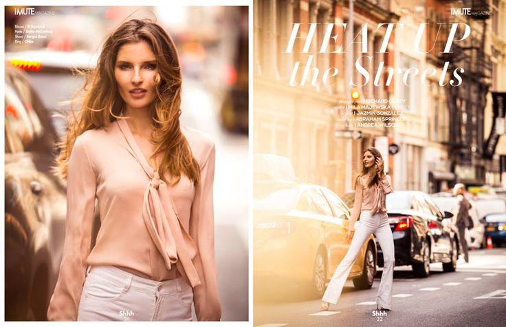Heat up the street Editorial - iMute Magazine Summer Issue #11 2015 Photographer | Richard Guaty Model | Mila Majewska @ Next Models Stylist | Jazmin Gonzalez Make up | Abraham Sprinkle Hair | Andrea Wilson
