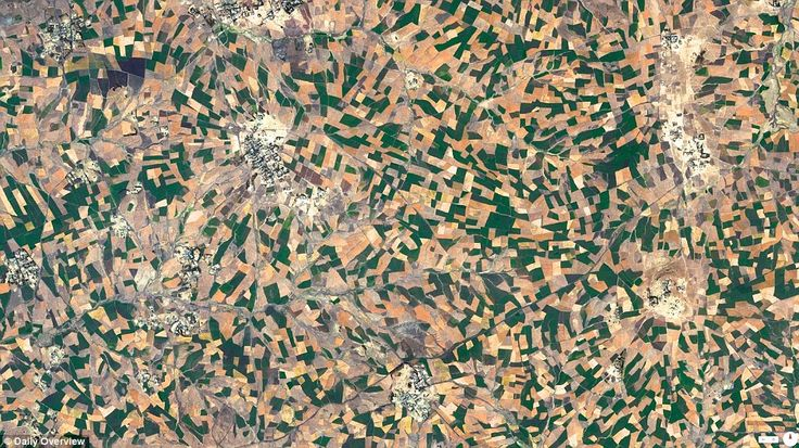 Agricultural development Addis Ababa, Ethiopia: The many farms in the rural country as seen from space