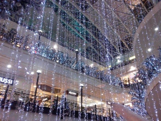 Luces navideñas. Centro Comercial Andino. Bogotá D. C.