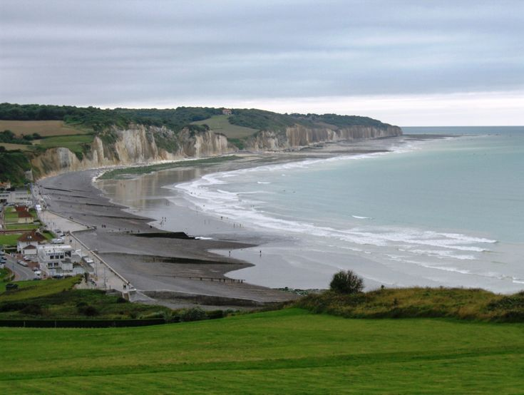 The beach at Pourville, assigned to the South Saskatchewan Regiment and the The Queen's Own Cameron Highlanders of Canada during the Dieppe raid in force, August 19, 1942.