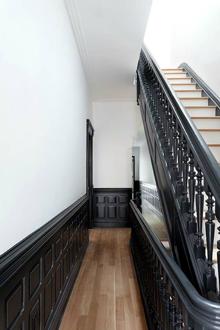 17 meilleures id es propos de escaliers peints en noir sur pinterest peinture d 39 escaliers. Black Bedroom Furniture Sets. Home Design Ideas