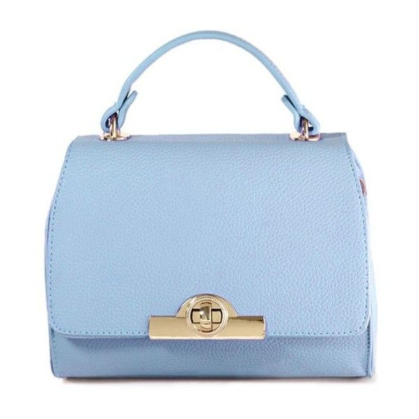 Solid Color Hasp Metallic Tote Bag ($99) ❤ liked on Polyvore featuring bags, handbags, tote bags, purses, metallic purse, man tote bag, purse tote, tote handbags and blue tote handbags