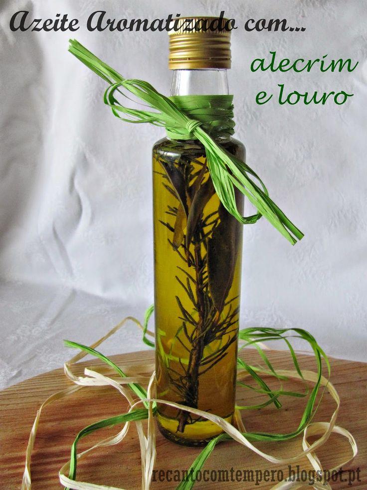 Azeite aromatizado com alecrim e louro