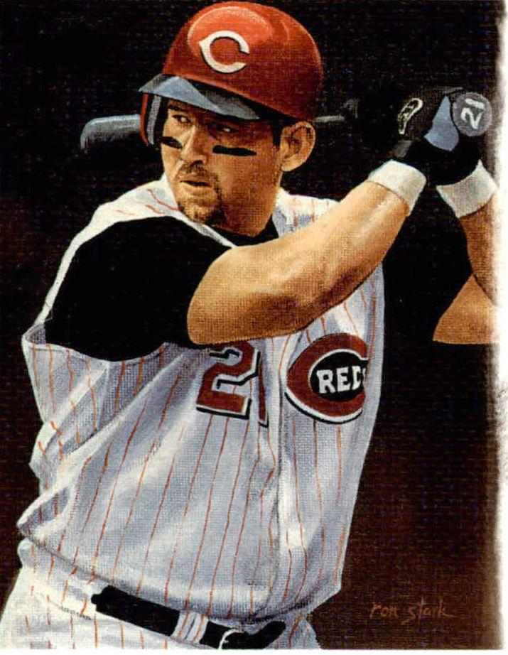 Sean Casey, Cincinnati Reds by Ron Stark, 2003.