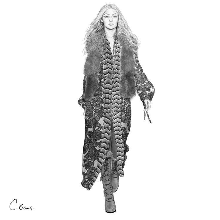 GIGI HADID for ANNA SUI - STELLAR magazine