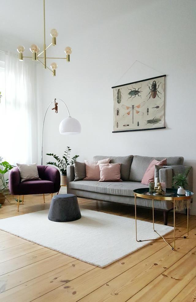 Skandinavisches Vintage Wohnzimmer In Hellen Farben Pixiswelt