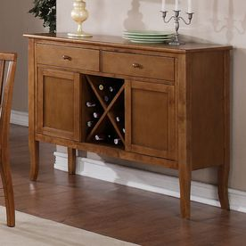 Steve Silver Company Candice Oak Sideboard With Wine Storage Cd750svk