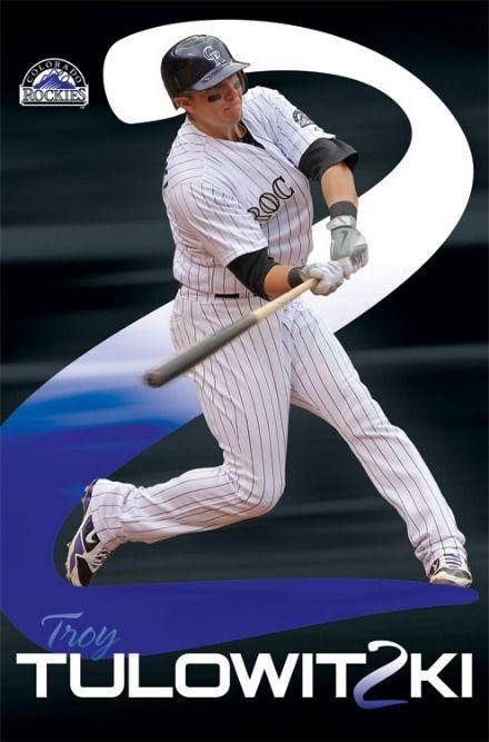 colorado rockies baseball players | Colorado Rockies MLB Baseball Player Troy Tulowitzki Action Poster ...