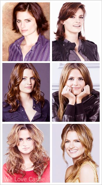 Kate Beckett from season 1 to season 6 (see how undeniably cute and happy she is now that she's engaged to Castle :D)