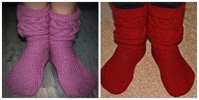 So soft and cozy slippers. Drops pattern 150-4.