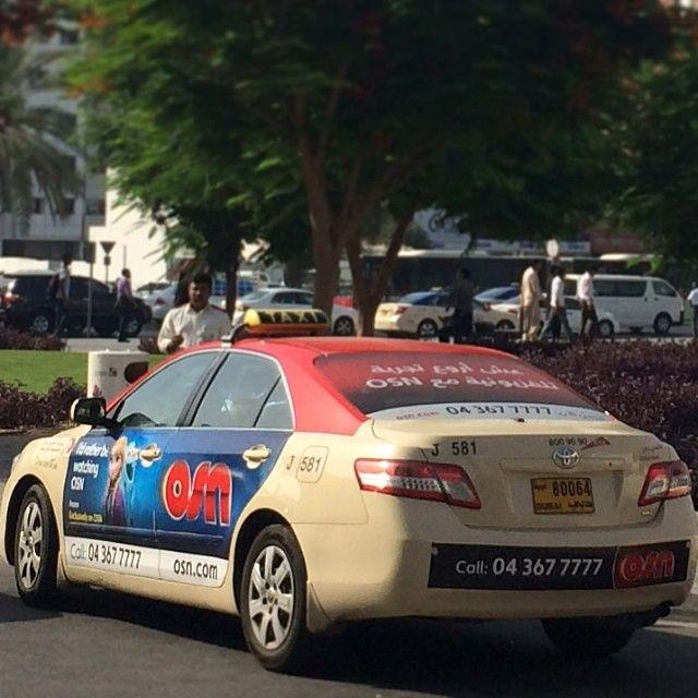 Dubai taxi. Photo taken by @Kuriakose Sebastian on Instagram.
