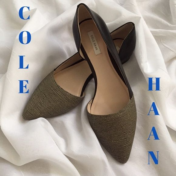 Cole Haan Amalia Half D-orsay flats Super cute and stylish flats will look great with any outfit! Hardly used with no sign of wear except bottom of shoe. Cole Haan Shoes Flats & Loafers