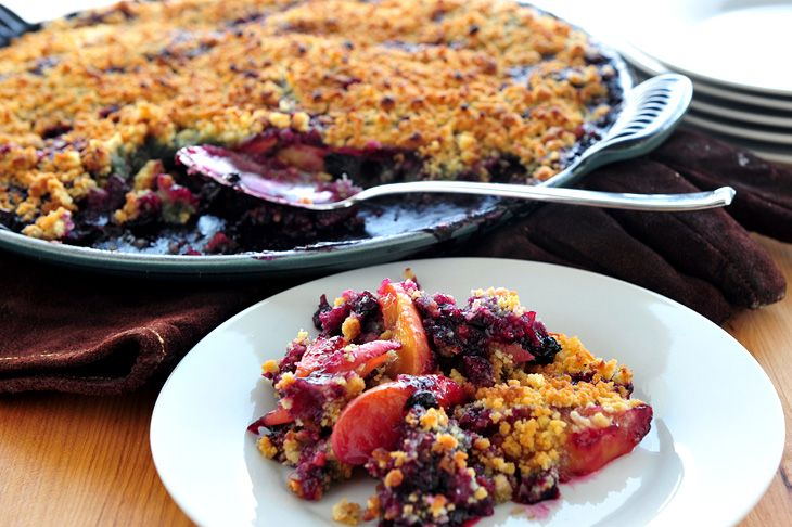Grilled Nectarine Crumble Recipe — Dishmaps