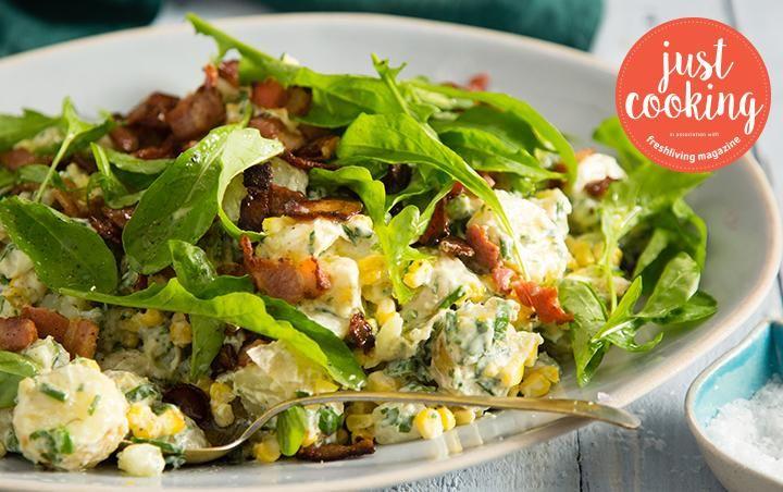 Bacon and corn potato salad