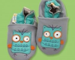 Galipatte Baby Booties Leather Owl Powder. Available at Wauwaa http://bit.ly/1oFuWD5 #AutumnDays @wauwaauk