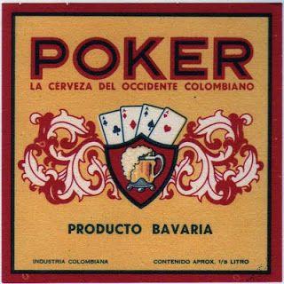 1960   Etiquetas de Cervezas Colombianas: POKER