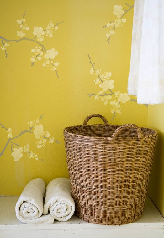 Wall Decor Stencil Cherry Blossoms for DIY by royaldesignstencils, $44.00 - wish I could do this to a room!!