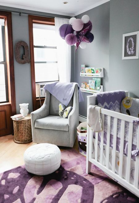 Radiant orchid is a perfect color for a children's space with its magical essence and can be gender neutral.