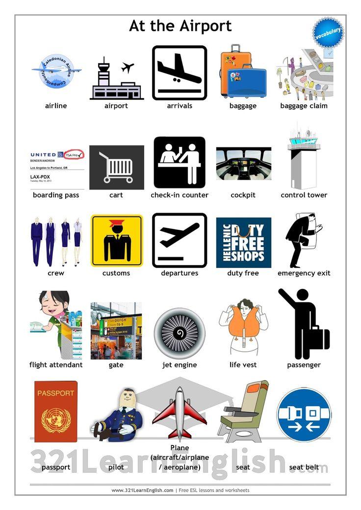 Resultado de imagen de vocabulary airport