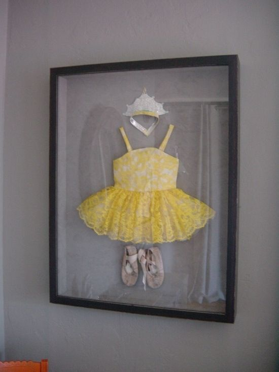 Frame your child's first ballet outfit or sports uniform