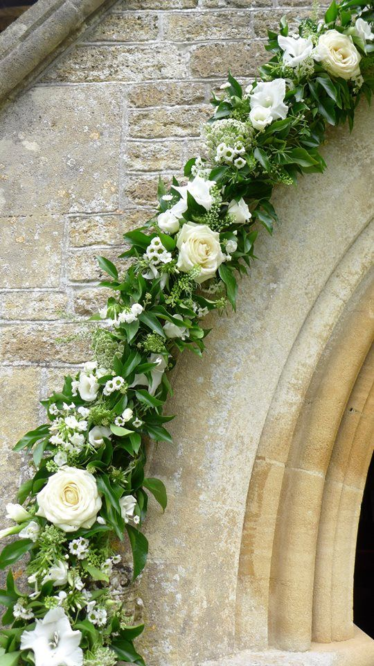 Wedding Flowers Outside Ocrhad Leigh church