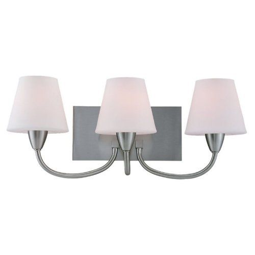 Sea Gull Lighting 44386BLE-962 Stockholm Three-Light Vanity/Bath Fixture, Brushed Nickel Finish with Etched Opal Glass Shades by Sea Gull Lighting. $161.28. Requires three GU24 self ballasted 13-Watt maximum bulbs. Width: 23-Inches; Height: 9-1/4-Inches. Meets Title 24 Efficancy standards. Bulbs included. Energy Star Qualified. From the Manufacturer                Sea Gull Lighting's Fluorescent Three-Light Bath Bar in a Brushed Nickel Finish with Etched Opal ...