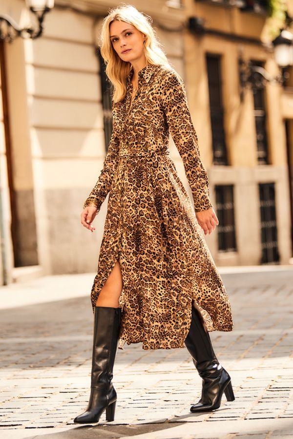 da2ba7264f0e Strut into work or your next social gathering in our stunning leopard print  shirtdress and you're sure to turn heads. The midi length makes it perfect  for ...