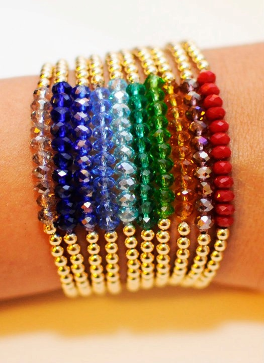 Gold Filled Beaded Bracelets by NiuwiBeads on Etsy, $16.00