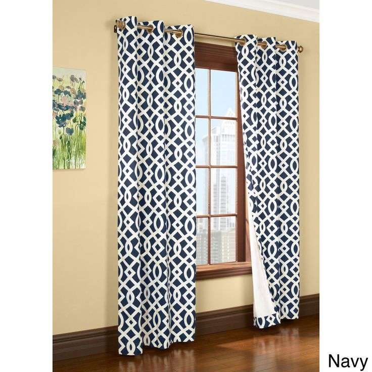 Trellis Printed Thermal Insulated Curtain Panel Pair   Overstock™ Shopping    Great Deals On Curtains