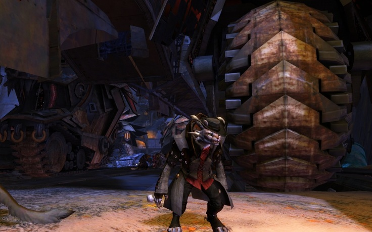 Looking especially dapper in the Black Citadel.  Thanks to Praxis Gaming for the image.Black Citadel, Praxis Games, Land Screenshot, Guild Wars, Charr Land
