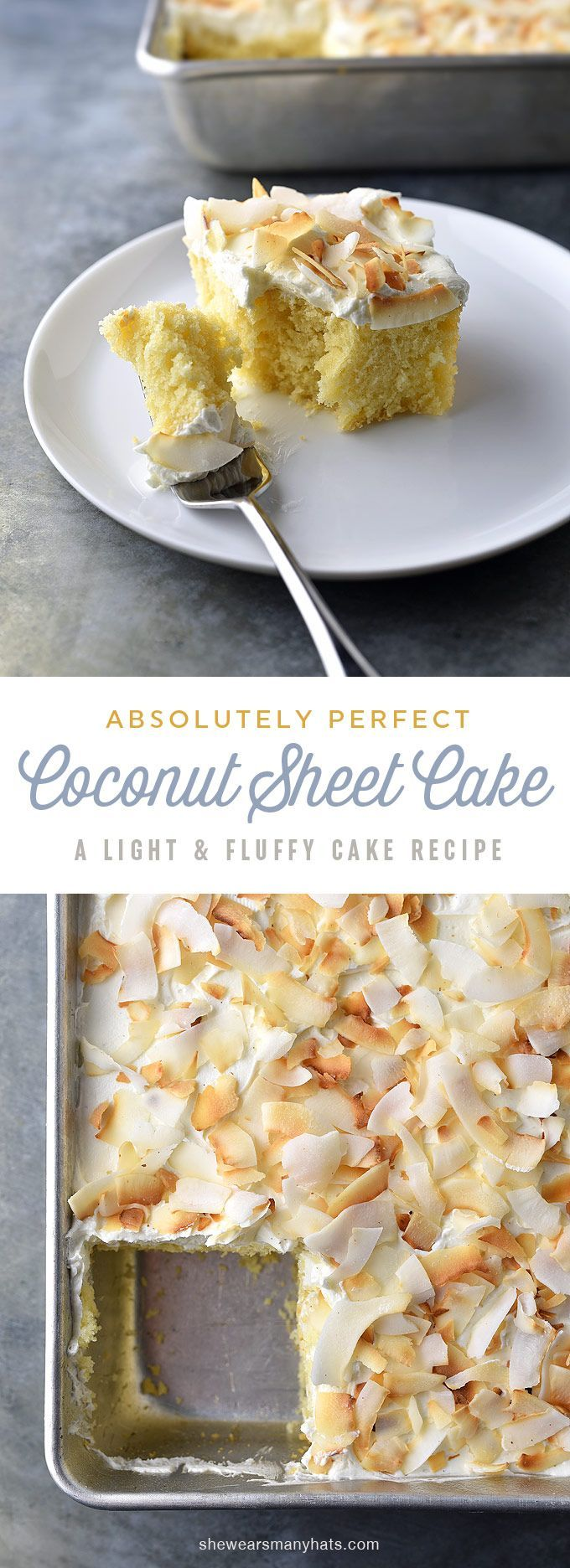 Perfect Coconut Sheet Cake Recipe | http://shewearsmanyhats.com