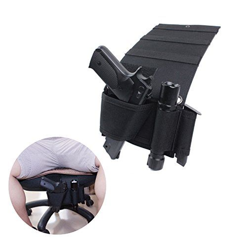 Car Gun Holster Vehicle Seat Pistol Holster,Quick Access Bedside Gun Holster for Most Size Handgun: <b>Descriptions:</b><br/><br/> This pistol holster can be installed in seats under all mattress bed, compatible with most cars, trucks, vans. Very convenient and quick to take out and put back.<br/><br/>Compatible with Ruger LCP 380, Sig P238, Kimber solo , S&W M&P Shield 9mm, Glock 26, Glock 27, Glock 30, Glock 42, Glock 43, xds 45, springfield 45 etc. and similar sized weapons.<br/><...