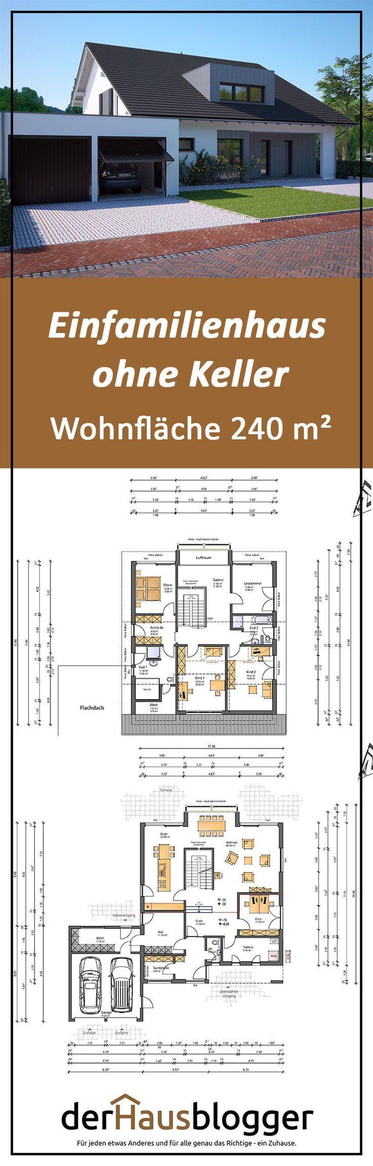 Die Erbauer dieser rd. Das 240 m² große Satteldachhaus hatte den …  – Hausbau