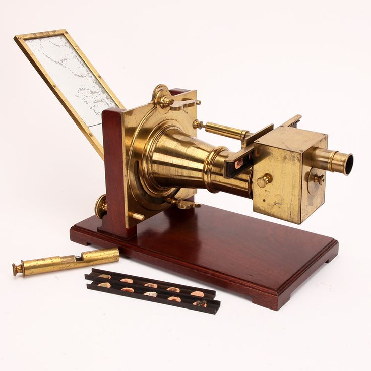 A Large Antique brass solar microscope compendium by William Harris & Co, London. circa 1816. For sale at http://www.fleaglass.com/ads/a-solar-microscope-compendium-by-wm-harris-7-co-london/