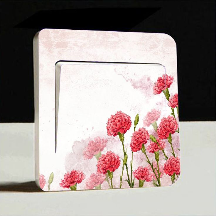 Flowers Light Switch Cover Sticker #6432   Free Worldwide Shipping!  Only $3.49    Order from: www.happycozyhome.com