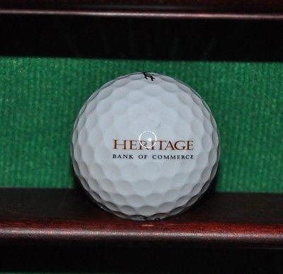 Heritage Bank of Commerce logo golf ball. Titleist