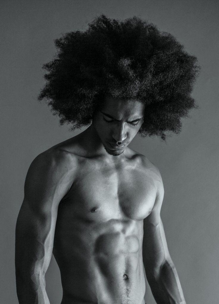 Naked blackman long hair like this