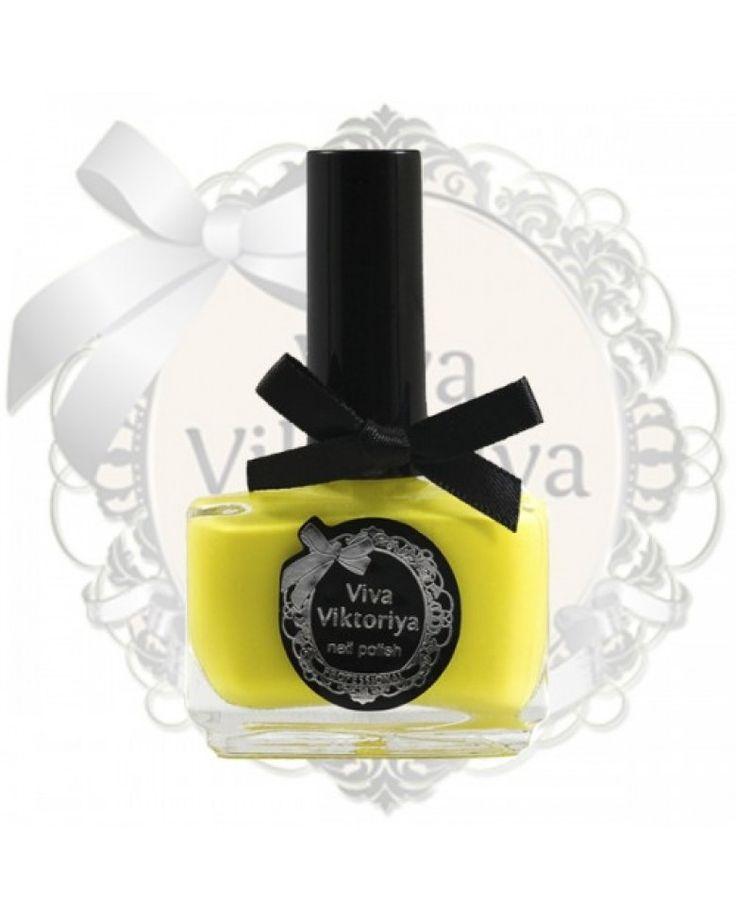 105 Желтый кремовый оттенок. Лак для ногтей Viva Viktoriya