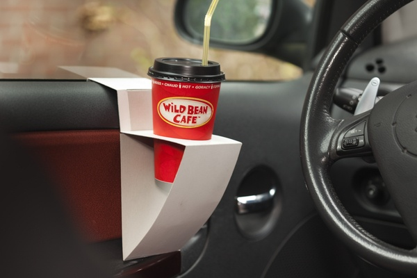 Cup holder - Joseph Rathkolb / Patrick Schiestl: Household Tips, Cardboard Crafts, Cup Holders