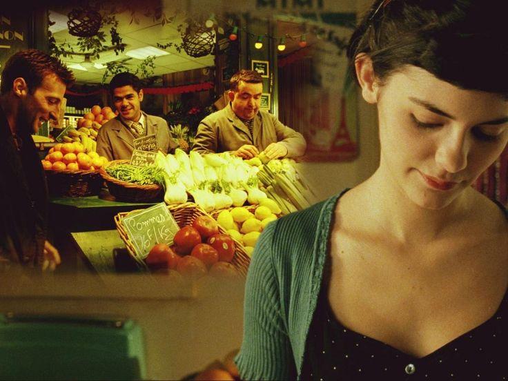 Amélie in the market....