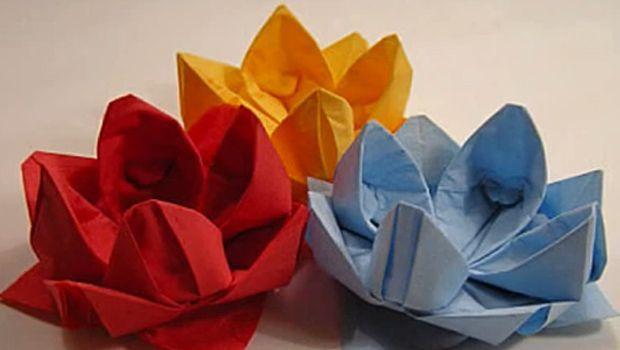 Il tutorial per fiori origami per bambini semplici da fare