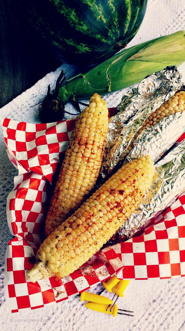 BBQ Corn on the Cob for Memorial Day Munchies now on Canned-Time.com