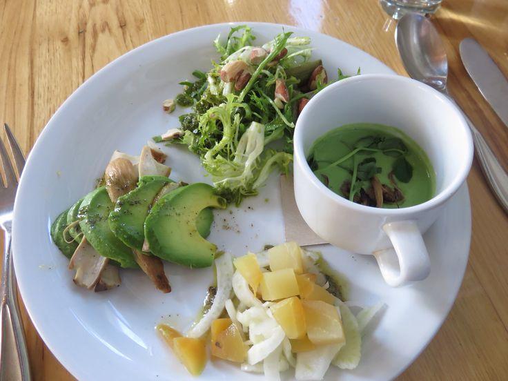 Delicious sample platter at Plant Organic Café San Francisco